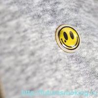 Металлический Значок Смайлик на Цанге Круг 17 мм