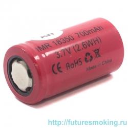Аккумулятор 18350 AW 700 mAh 3.7V незащищенный (плоский) Li-Ion