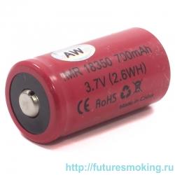 Аккумулятор 18350 AW 700 mAh 3.7V незащищенный (выпуклый с пимпочкой) Li-Ion