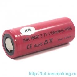 Аккумулятор 18490 AW 1100 mAh 3.7V незащищенный (плоский) Li-Ion