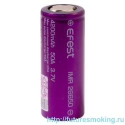 Аккумулятор 26650 4200 mAh Efest V1 IMR 3.7V 50А