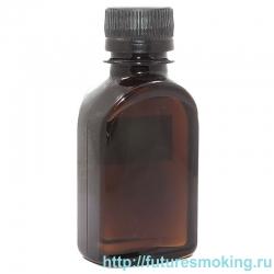 Флакон темный 100 мл (пустой коричневый бутылек)