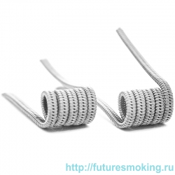 Спирали V-Coil 2 шт Staggered Fused Coil SS316L 0.08 Ом (2*0.4)*0.15