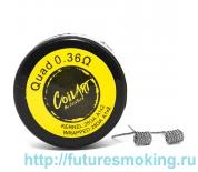Спираль Coil Art Quad 0.36 Ом (28GA A1*2/28GA A1*2)