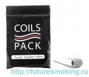 Спирали Coils Pack 20 шт Fused Clapton 0.07 Ом