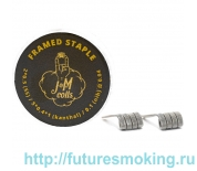 Спирали JM Coils 2 шт Framed Staple Coils 0.04 Ом (2*0.5 SS316/5*0.4*0.1 Kanthal/0.1 Nih)