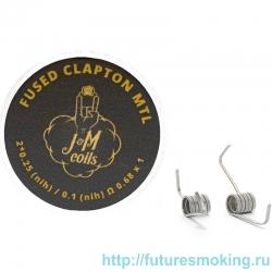 Спирали JM Coils 2 шт Fused Clapton MTL Coils 0.68 Ом (2*0.25 Nih/0.1 Nih)