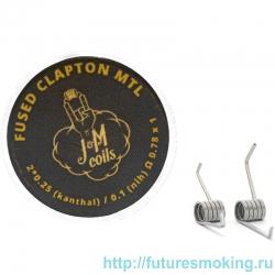 Спирали JM Coils 2 шт Fused Clapton MTL Coils 0.78 Ом (2*0.25 Kanthal/0.1 Ni80)