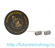 Спирали JM Coils 2 шт Hologram Staple Coils 0.07 Ом (2*0.4 SS316/7*0.4*1 Kanthal/0.1 Nih)