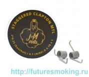 Спирали JM Coils 2 шт Staggereed Clapton MTL Coils 0.78 Ом (2*0.25 Kanthal/0.1Ni80)