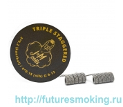Спирали JM Coils 2 шт Triple Staggereed Coils 0.13 Ом (3*0.2Kanthal/4*0.15 Nih)
