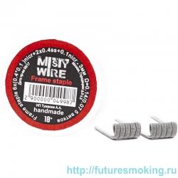 Спирали Misty Wire Frame Staple 6x(0.4*0.1)nicr +2x0.4ss +0.1nicr 3mm 0.14/0.07  5 витков (2 шт)