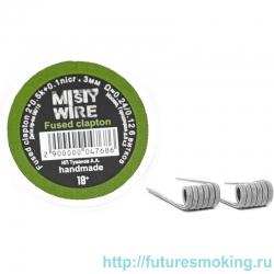 Спирали Misty Wire Fused Clapton 2*0.5k +0.1nicr 3mm 0.24/0/12  6 витков (2шт)