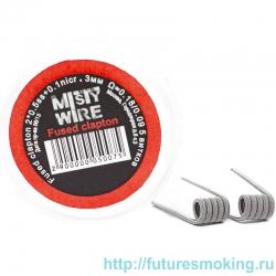 Спирали Misty Wire Fused Clapton 2*0.5ss +0.1nicr 3mm 0.18/0.09  5 витков (2шт)