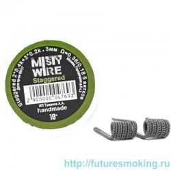 Спирали Misty Wire Staggered 2*0.4k +3*0.2k 3mm 0.36/0.18  5 витков (2шт)