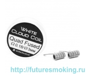 Спирали White Cloud Coil для Плат Quad Fused 0.18 Ом 2 шт