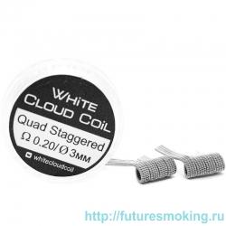 Спирали White Cloud Coil для Плат Quad Staggered 0.20 Ом 2 шт