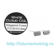 Спирали White Cloud Coil для Плат Staggered Fused 0.30 Ом 2 шт