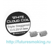 Спирали White Cloud Coil для Плат Triple Staggered 0.20 Ом 2 шт