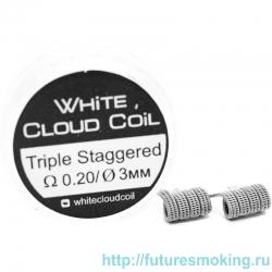 Спирали White Cloud Coil для Плат Triple Staggered 0.20 Ом 2 шт