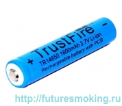 Аккумулятор 14650 1600 mAh Trustfire 3.7V с защитой