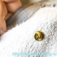 Металлический Значок Vape Zone на Цанге Круг 17 мм