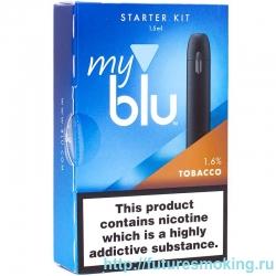 Вейпор My Blu Tobacco 16 мг/мл Чёрный Von Erl