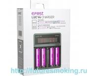Зарядное устройство Efest LUC V4 LCD + автомобильный адаптер (для всех типов аккумуляторов)